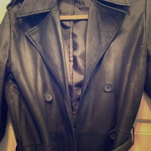 Zara leather trench
